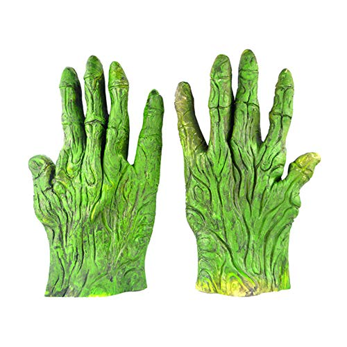 Westeng Guantes Halloween Verde Guantes Zombie Carnaval