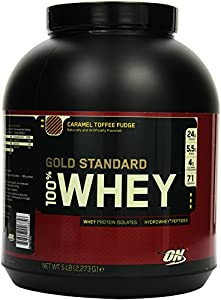 Optimum Nutrition Whey Gold Standard Protein, Caramel Toffee Fudge, 1er Pack (1 x 2273g)