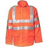 Planam Regen-Jacke Warnschutz, Größe M in orange, 1 Stück, 2061048