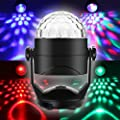 ENUOLI Sound Activated Party Lights for Outdoor Indoor Battery Powered/USB Plug In Portable 7 Color RBG Rotating Disco Ball Strobe Lamp Stage Par Light for Car Room Xmas Birthday DJ Bar Club Wedding