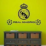 yaoxingfu Pegatinas de Pared autoadhesivos autoadhesivos de Real Real Madrid para Habitaciones de niños Pegatina M43cm X 67cm