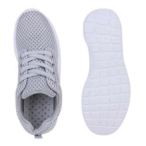 Damen Trainers Muster| Herren Sportschuhe Profilsohle| Metallic Unisex Laufschuhe |Freizeitschuhe Runners Glitzer Grau Grey