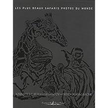 Les plus beaux safaris photos du monde : Coffret 4 volumes : Afrique du Sud ; Galapagos ; Inde ; Madagascar