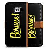DeinDesign Samsung Galaxy S6 Tasche Leder Flip Case karamell Hülle braun Borusse Borussia Dortmund BVB