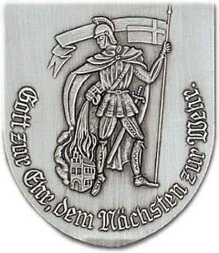 "Preisvergleich Produktbild Zinn-Wappen Feuerwehr ""St. Florian"" (R11)"
