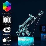 Nachtlicht Spieleserie Nachtlicht Omega Raven Scar 3D Lampe 7 Farbtabelle Lava Stimmungslampe Für Kinder Weihnachten Geburtstagsgeschenke Fans (Crack Omega) @Crack_Scar