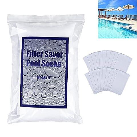 20/100Schwimmbad Abschäumern maaryee Pool Skimmer socks-perfect Savers für Körbe, Filter, und Abschäumern