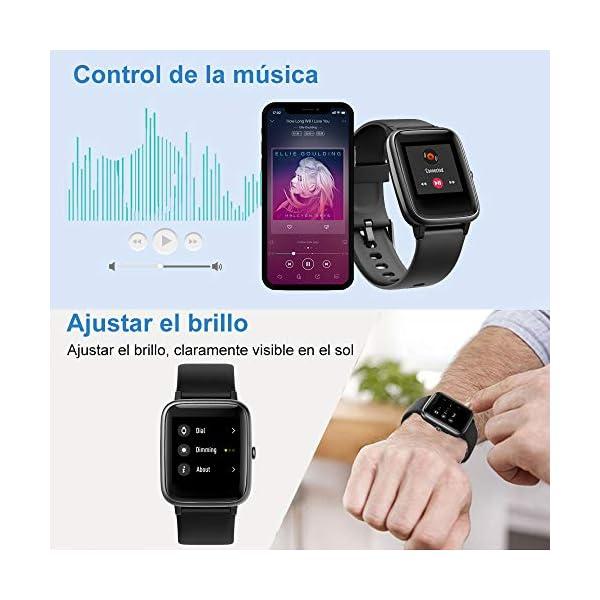 Willful Smartwatch,Reloj Inteligente con Pulsómetro,Cronómetros,Calorías,Monitor de Sueño,Podómetro Pulsera Actividad Inteligente Impermeable IP68 Smartwatch Hombre Reloj Deportivo para Android iOS 5