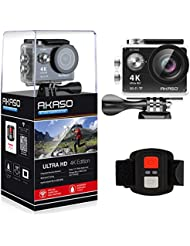 AKASO EK7000 4K Sport Action Camera Ultra HD Camcorder 12MP WiFi Waterproof Camera 170 Degree Wide View Angle 2 Inch LCD Screen W/ 2.4G Remote
