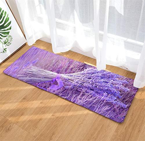 Deyimr Fußmatte Lavendel Teppich, Büro, Schlafzimmer Teppich, Küche Und Wc Anti-Rutsch-Teppich, B