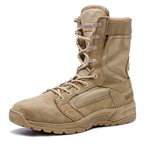 Botas tácticas Militares de Hombre Ultraligero, Tan Botas Jungle Combat, Zapatos de Trabajo y Seguridad...