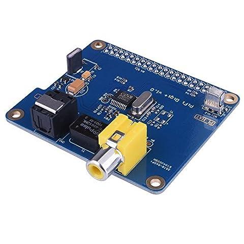 WINGONEER HIFI DiGi+ Digital Sound Card I2S SPDIF Optical Fiber RCA for Raspberry Pi 3 2 model B B+