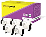 5 Rollen DK11202 DK-11202 62mm x 100mm Versand-Etiketten kompatibel für Brother P-Touch QL-500 QL-550 QL-560 QL-570 QL-580N QL-650TD QL-700 QL-720NW QL-1050 QL-1060N (300 Etiketten pro Rolle)