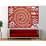 Tamatina Canvas Paintings - The Warli Art - Tribal Art - Paintings For Home Décor - Paintings For Drawing Room - Wall Paintings For Bedroom - Paintings For Living Room - Wall Paintings For Home Decoration - Canvas Paintings For Wall - Large Size Pa