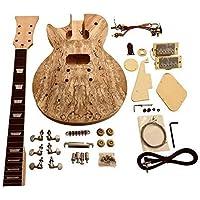 gdlp77l para zurdos Hazlo tú mismo Guitarra Eléctrica KITS, estilo MACIZO Caoba Cuerpo Con Spalted