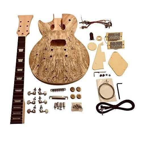 gdlp77l para zurdos Hazlo tú mismo Guitarra Eléctrica KITS, estilo MACIZO Caoba Cuerpo Con Spalted Arce Chapa
