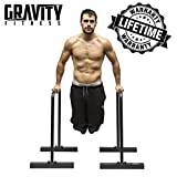 Gravity Fitness Parallettes for Crossfit, Calisthenics, Body Weight, Dip Bars