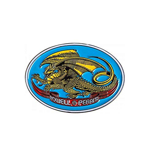 Powell Peralta Badge Oval Dragon Lapel Pin None (One Size, Blau)