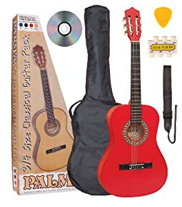 Palma PL34ROFT 3/4 Size Guitar Outfit - Red