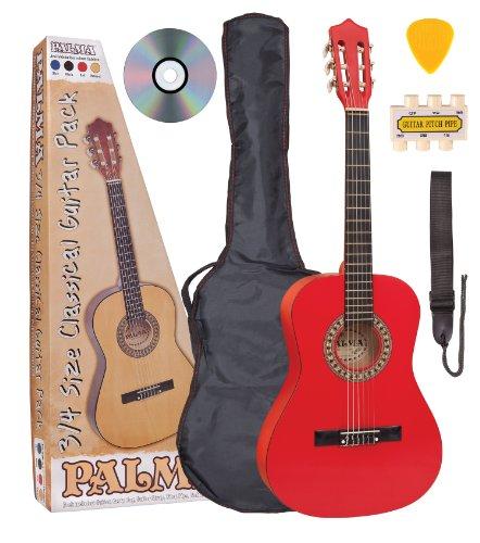 Palma PL34ROFT Klassik-Gitarren-Set Kinder rot 3/4 Grösse