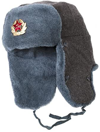 Authentic Russian Army Ushanka Winter Hat-62 Soviet Soldier