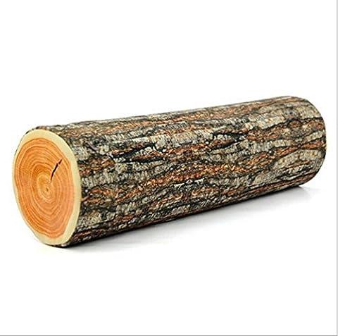 Hengsong Forme de Bois Creative Coussin Doux Oreiller Canapé / Maison Décoration (B)