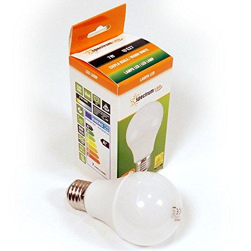 Set da 7Watt LED Lampada E27a60lampadina lampadina bianco caldo lampadina