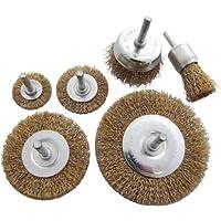 Am-Tech 6 pedazos de alambre de la rueda del sistema de cepillo, F3500