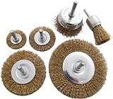 Am-Tech Wire Wheel Brush Set (6 Pieces)