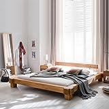 Bett Parana 180 x 200 cm in Kernbuche massiv geölt