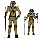 Costume alien Déguisement extraterrestre L 52/54 tenue de martien habits de carnaval hommes vêtements homme démon mascarade défilé Predator