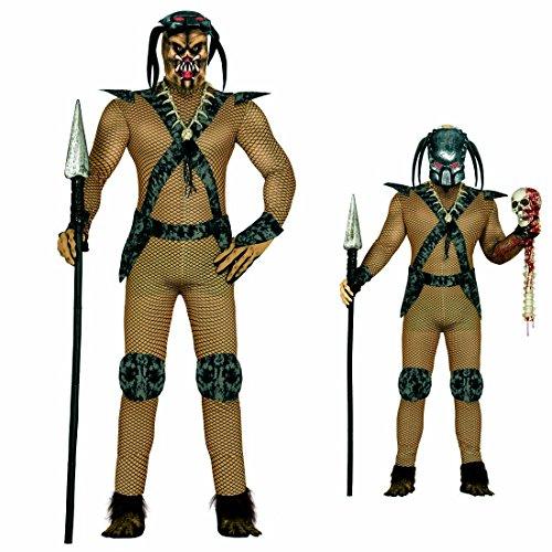 Imagen de guerrero de película disfraz de alien l 52/54 ropa carnaval hombre atuendo predator traje extraterrestre vestido de varón demonio alternativa