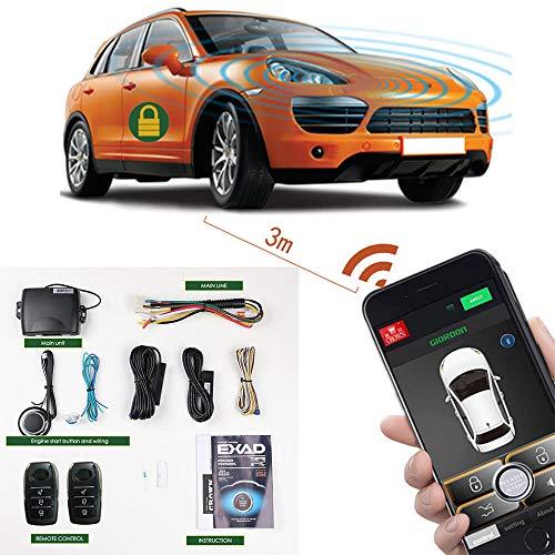 Fernstart für alle Autos, 2-Wege, schlüssellos, Autoalarmanlagen, Smartphone, PKE Start-Stopp, Zentralverriegelung mit Zwei Fernbedienungen - Remote-starter Iphone