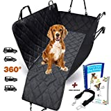 AMZPET Dog Car Seat Cover for Dogs, Waterproof with Door Protection, Durable Nonslip Scratch Proof Washable Pet Back Seat Cover. 3-in-1 Car Seat Protector, Boot Liner, Dog Travel Hammock for all Cars