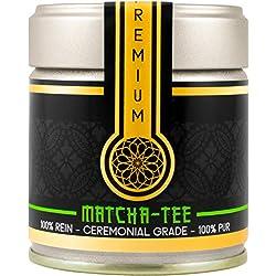 Matcha Tee (30g), Grüntee Pulver Premium Bio Qualität aus Uji, Japan, Handgepflückt, Extrafein, Edel, Traditionell Verarbeitet