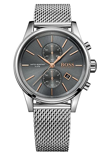 Hugo BOSS Herren-Armbanduhr 1513440, Stahl/Grau (Hand Watch Swiss)