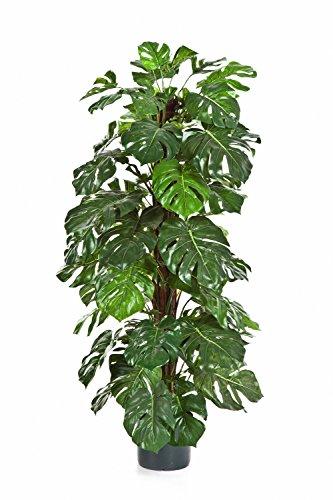 artplants - Künstlicher Philodendron Split Sancho, 110 Blätter, 120 cm - Deko Kletterpflanze/Philo Kunst Ranke