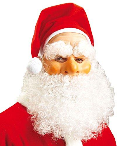 WIDMANN vd-wdm1515N Maske Weihnachtsmann, weiß, ()