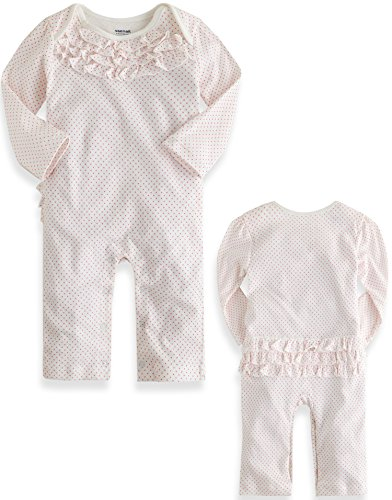 Frill One Piece (Vaenait Baby 62-68 Newborn Infant Baby Girls One Piece Romper Frill Dot 9-12M)