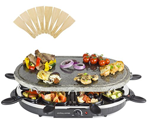Andrew-James-Rustic-Stone-Raclette-Grill-with-Thermostatic-Heat-Control-Includes-Eight-Raclette-Spatulas