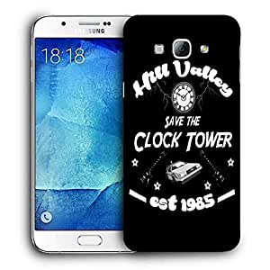 Snoogg Save The Clock Tower Designer Protective Back Case Cover For SAMSUNG GALAXY A8