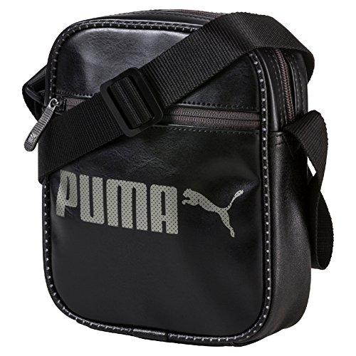 Bolso bandolera Campus Reporter color negro cartera mochila poliuretano – Puma