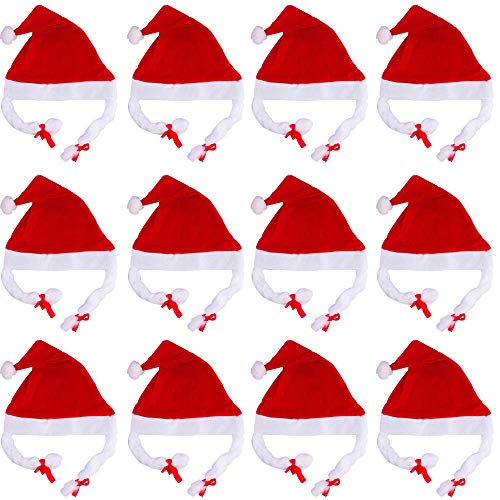 MAlex Cappello di Natale con trecce rosso ragazze di Natale cappello di Natale decorazione fornitura tappo scorpione