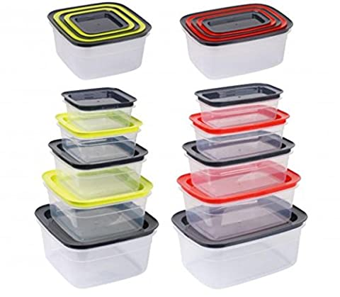 Set of 5 food containers, various sizes