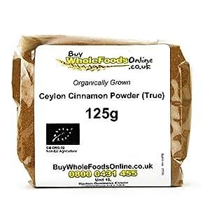 Organic Ceylon Cinnamon Powder (True) 125g