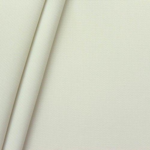 STOFFKONTOR Oxford Polyester Gewebe 600D Stoff Meterware Rein Weiss