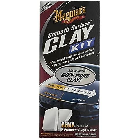 Meguiar's G1016 Smooth Surface - Arcilla de limpieza para coche (473 ml, toallita de microfibra)