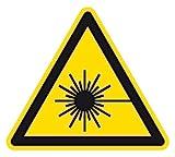 Warnzeichen - Warnung vor Laserstrahl - Folie Selbstklebend - 10 x 10 cm