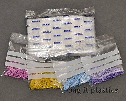 Lot de 100 sachets en plastique refermables 'Panel'sachets hermétiques de 5 x 7,5 cm