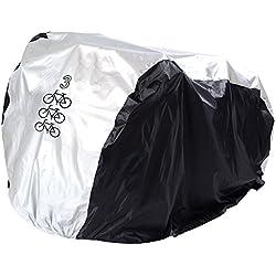 P&E Funda Bicicleta,Funda para Bicicleta,Cubierta Impermeable de Bicicleta, la Cubierta de TRES Bicicleta 180T Nailón con el Tafetán PU, la Capa anti Llvia, Agua, Polvo y Rayos Ultravioleta, la Cubierta de Bicicleta, de Bicicleta de Montaña, de Moto, la Bolsa Ajustable
